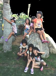 自由時間中の子供たちの写真